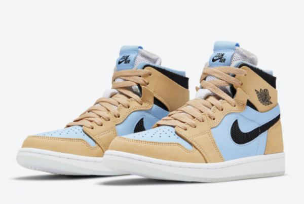 New Air Jordan 1 Zoom CMFT Psychic Blue Psychic 2021 For Sale CT0979-400-2