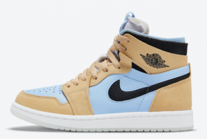 New Air Jordan 1 Zoom CMFT Psychic Blue Psychic 2021 For Sale CT0979-400