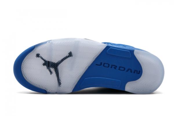 New Air Jordan 5 Blue Suede 2021 For Sale 136027-401-1