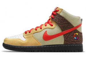 New Color Skates x Nike SB Dunk High Kebab and Destroy 2021 For Sale