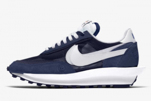 New Fragment x Sacai x Nike LDWaffle Blue Void/Obsidian/White 2021 For Sale DH2684-400