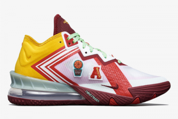 New Mimi Plange x Nike LeBron 18 Low Higher Learning 2021 For Sale CV7562-102 -1