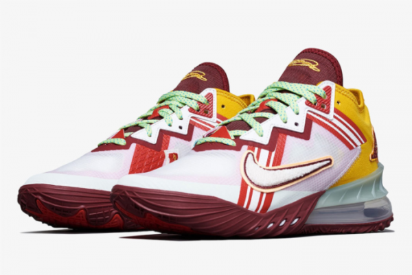 New Mimi Plange x Nike LeBron 18 Low Higher Learning 2021 For Sale CV7562-102 -2