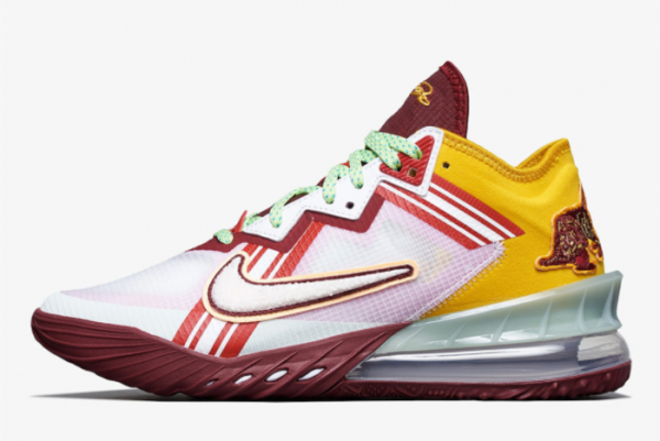 New Mimi Plange x Nike LeBron 18 Low Higher Learning 2021 For Sale CV7562-102