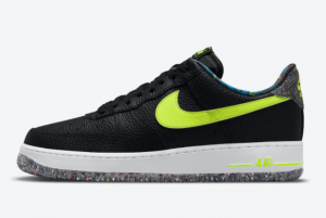 New Nike Air Force 1 Low Black Volt-White 2021 For Sale DM9098-001
