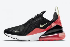 New Nike Air Max 270 Black/Laser Crimson-Barely Volt 2021 For Sale DM8325-001