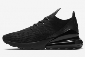 New Nike Air Max 270 Flyknit Triple Black 2021 For Sale AH8050-005