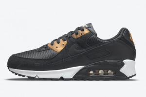 New Nike Air Max 90 Black Gold 2021 For Sale DM7557-001