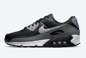 New Nike Air Max 90 Black/Grey-Blue 2021 For Sale DM9102-002