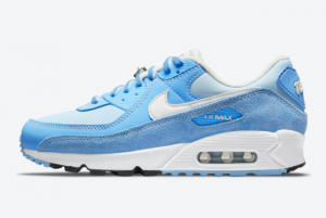 New Nike Air Max 90 First Use University Blue 2021 For Sale DA8709-400