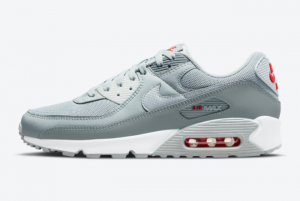 New Nike Air Max 90 Grey Red DM9102-001 For Sale