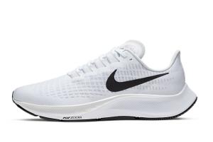 New Nike Air Zoom Pegasus 37 White Pure Platinum-Black BQ9646-100