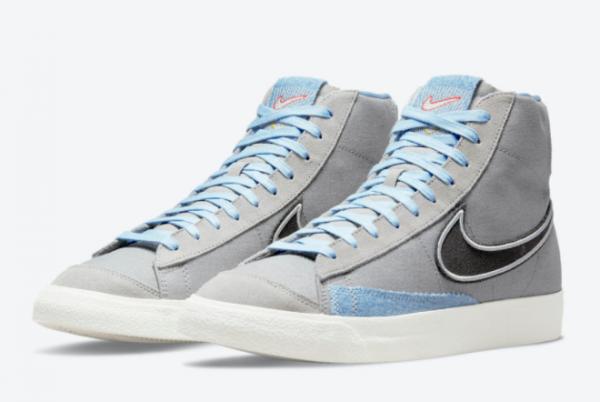 New Nike Blazer Mid Denim For Sale DJ4648-073-2