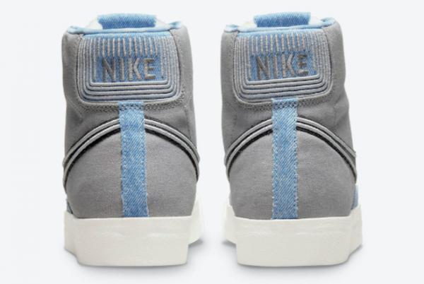 New Nike Blazer Mid Denim For Sale DJ4648-073-3