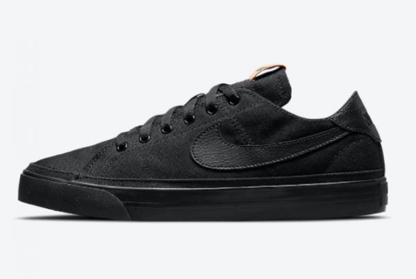 New Nike Court Legacy Canvas Black/Multi-Color-Black 2021 For Sale DJ1972-001