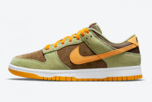New Nike Dunk Low Dusty Olive/Pro Gold 2021 For Sale DH5360-300