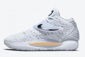 new nike kd 14 home white black 2021 for sale cw3935 100 300x201