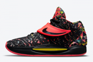 new nike kd 14 ky d floral red black 2021 for sale cw3935 002 300x201