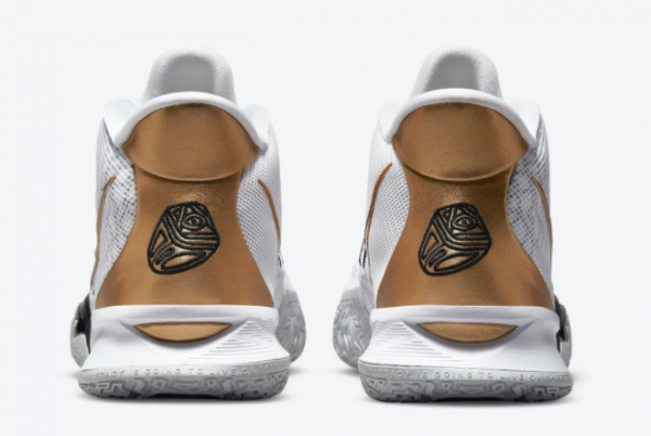 New Nike Kyrie 7 White/Black-Metallic Gold 2021 For Sale CQ9326-101-3
