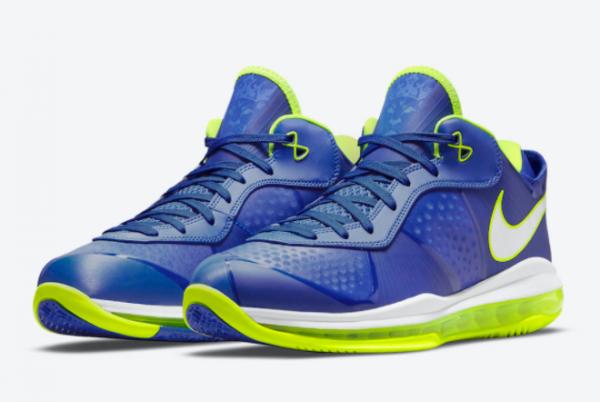 New Nike LeBron 8 V2 Low Sprite Treasure Blue/White-Black-Volt 2021 For Sale DN1581-400 -2