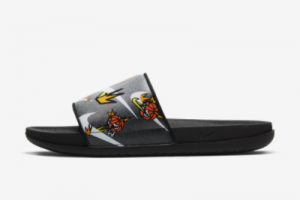 New Nike Offcourt Slide Black White Orange 2021 For Sale DJ4280-018