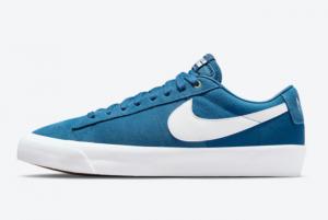 New Nike SB Blazer Low GT Blue White 2021 For Sale DC7695-401