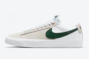 New Nike SB Blazer Low GT White Grey Green 2021 For Sale DC7695-102