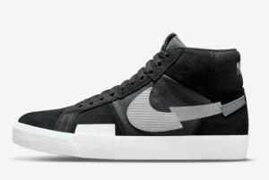 New Nike SB Blazer Mid Mosaic Pack Black Grey For Sale DA8854-001