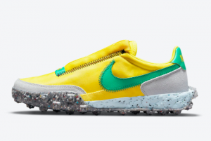 New Nike Waffle Racer Crater Oregon Ducks Green Yellow 2021 For Sale CT1983-701