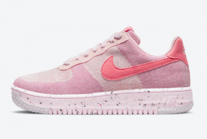 New Nike Wmns Air Force 1 Crater Flyknit Pink 2021 For Sale DC7273-600