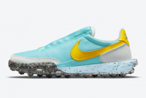 New Nike Wmns Waffle Racer Crater Bleached Aqua 2021 For Sale CT1983-104