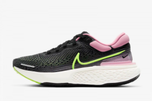 New Nike Wmns ZoomX Invincible Run Flyknit Black/Elemental Pink/Cyber 2021 For Sale CT2229-002