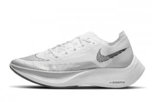 New Nike ZoomX Vaporfly Next% 2 White/Metallic Silver/Black 2021 For Sale CU4123-100