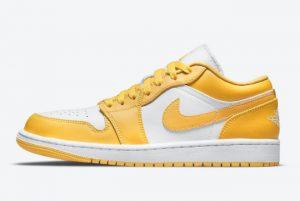 Cheap Air Jordan 1 Low GS Mustard Yellow/White 2021 For Sale 553558-171