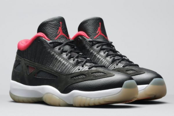 Cheap Air Jordan 11 Low IE Bred Black/White-True Red 2021 For Sale 919712-023-1