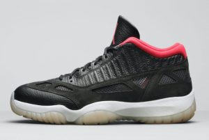 Cheap Air Jordan 11 Low IE Bred Black/White-True Red 2021 For Sale 919712-023