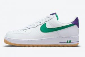 Cheap Nike Air Force 1 Low White Joker Green Purple 2021 For Sale DO1156-100