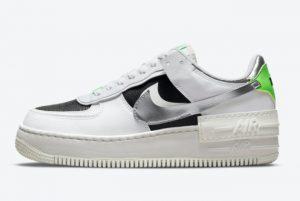 Cheap Nike Air Force 1 Shadow Silver Metallic 2021 For Sale DN8006-100