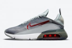 Cheap Nike Air Max 2090 Grey Red 2021 For Sale DM9101-001