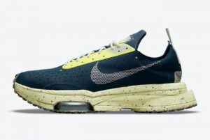 Cheap Nike Air Zoom Type Crater Navy Yellow 2021 For Sale DH9628-400