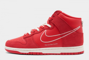 Latest Nike Dunk High First Use University Red Sail 2021 For Sale DH0960-600
