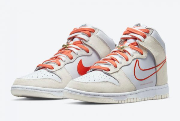 Cheap Nike Dunk High First Use White Grey-Orange 2021 For Sale DH6758-100-2