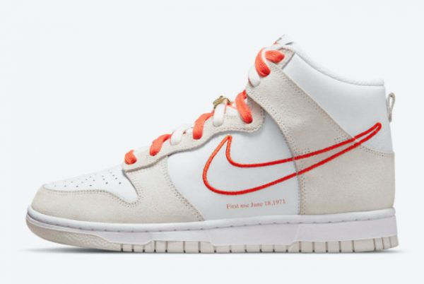 Cheap Nike Dunk High First Use White Grey-Orange 2021 For Sale DH6758-100
