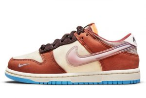 Cheap Social Status x Nike Dunk Low Canvas/Mid Soft Pink-Burnt Brown 2021 For Sale DM3350-700