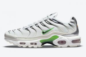 Discount Nike Air Max Plus White Metallic Silver-Neon Green 2021 On Sale DN6997-100