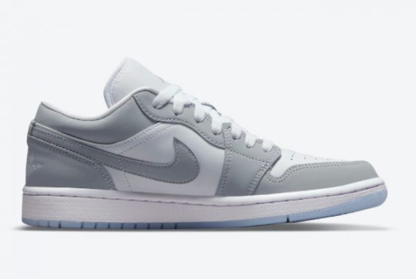 Latest Air Jordan 1 Low WMNS Wolf Grey White Wolf Grey-Aluminum 2021 For Sale DC0774-105-1