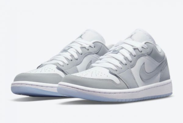 Latest Air Jordan 1 Low WMNS Wolf Grey White Wolf Grey-Aluminum 2021 For Sale DC0774-105-2