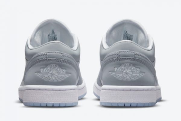 Latest Air Jordan 1 Low WMNS Wolf Grey White Wolf Grey-Aluminum 2021 For Sale DC0774-105-3