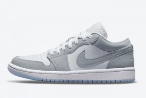 Latest Air Jordan 1 Low WMNS Wolf Grey White Wolf Grey-Aluminum 2021 For Sale DC0774-105