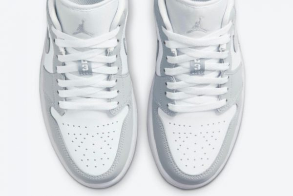 Latest Air Jordan 1 Low WMNS Wolf Grey White Wolf Grey-Aluminum 2021 For Sale DC0774-105-4